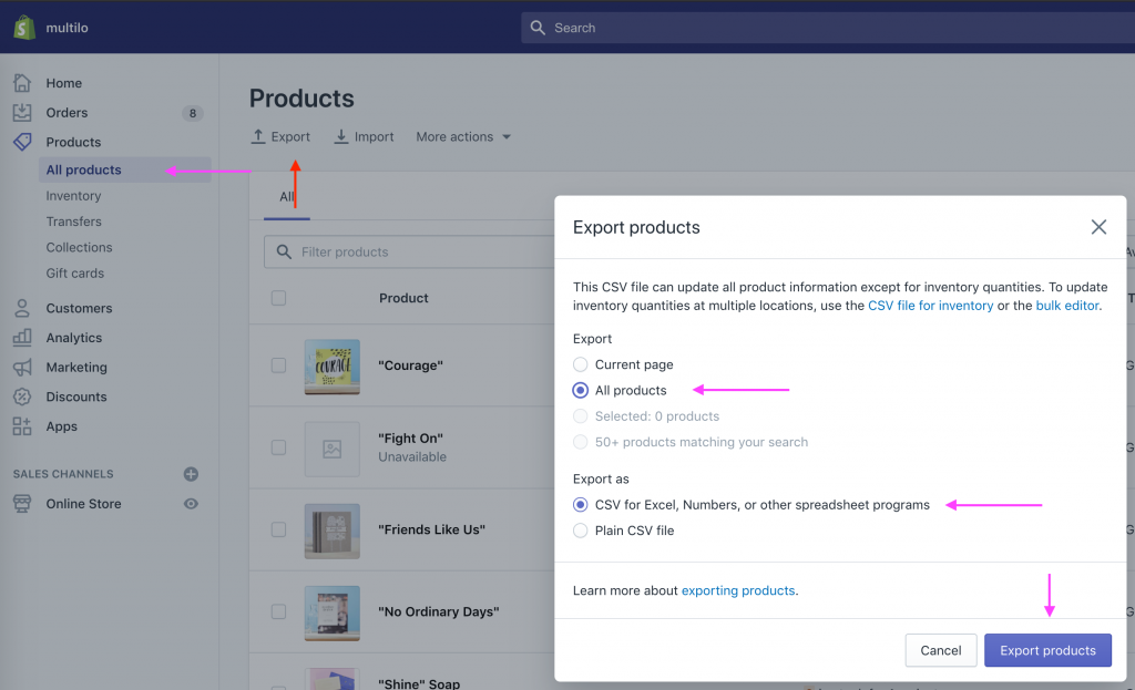 export_shopify_products